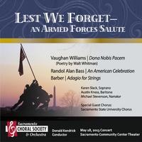 Lest We Forget - Vaughan Williams Dona Nobis Pacem